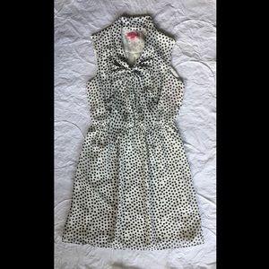 Betsey Johnson black & white polka dot dress, sz 8